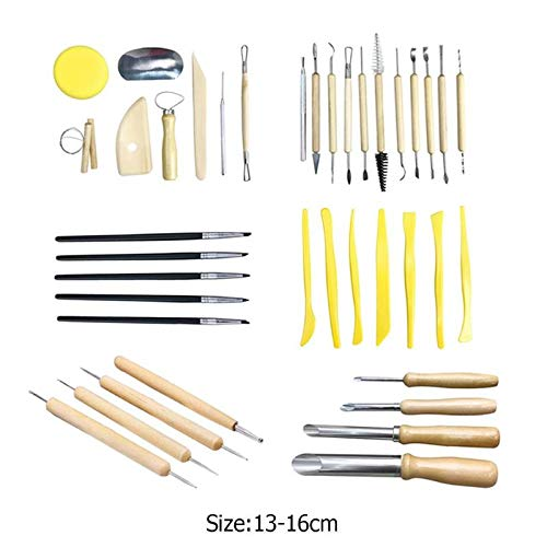Sculpting Tools 40pcs Clay Sculpting Pottery Carving Tool Set Ceramics Modeling Clay Tools Develop children's practical ability imagination by Sculpting Tools (Image #5)