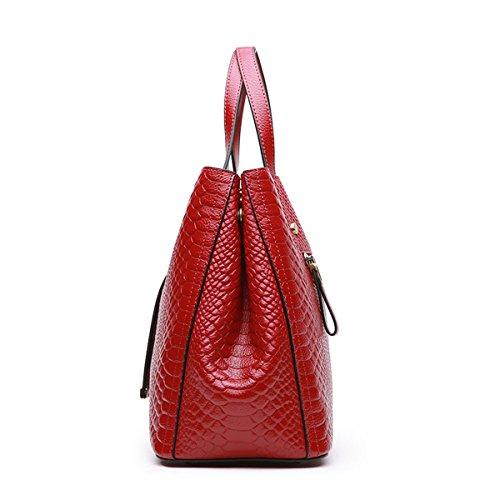 Rojo para mujer Lisa Piel al Bolso Medium hombro de DISSA YwUxvzqCC