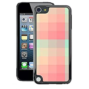 A-type Arte & diseño plástico duro Fundas Cover Cubre Hard Case Cover para Apple iPod Touch 5 (Teal Pink Skiing Pattern)