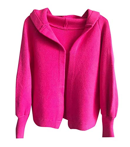 Giacche Di Maniche Primaverile Maglia Puro Huixin Leggero Elegante Rose Abbigliamento Fashion Donna Pullover Alta Colore Autunno Incappucciato Giacca Qualità Casual A Lunghe Outwear Coat 667qzU