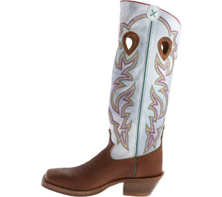 Twisted X Mens Bright White 17 Buckaroo Cowboy Boot Square Toe - Mbkl011 Cognac S0FQfUrKJ2