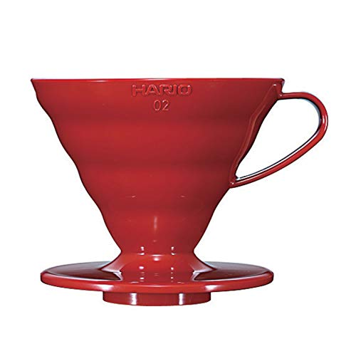 Hario V60 Plastic Coffee Dripper, Size 2, Red