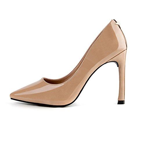 E FLYRCX la European Fine a Fait Hauts Talons avec Petite Bouche Sexy Mesdames Les Chaussures en Cuir.