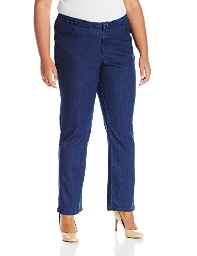 Riders by Lee Indigo Women's Petite Plus Size Comfort Collection Straight Leg Jean, Cobalt, 22P -