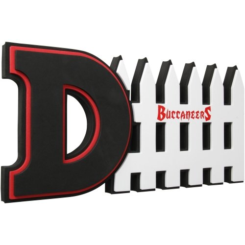 NFL Tampa Bay Buccaneers 3D Foam D-Fence Sign, - Tampa Shopping