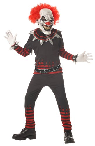 California Costumes Evil Clown Costume, Large