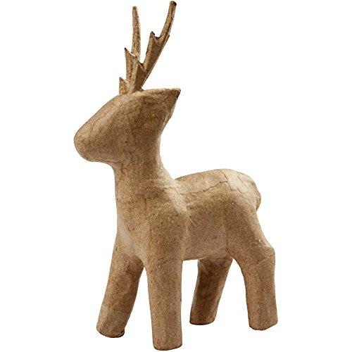 Creativ 22.5 cm Papier Mache Roe Deer Standing 26678
