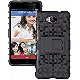 Lyf Wind 4S Back Cover Kickstand Case For Lyf Wind 4S Back Cover (Black) By Vinnx
