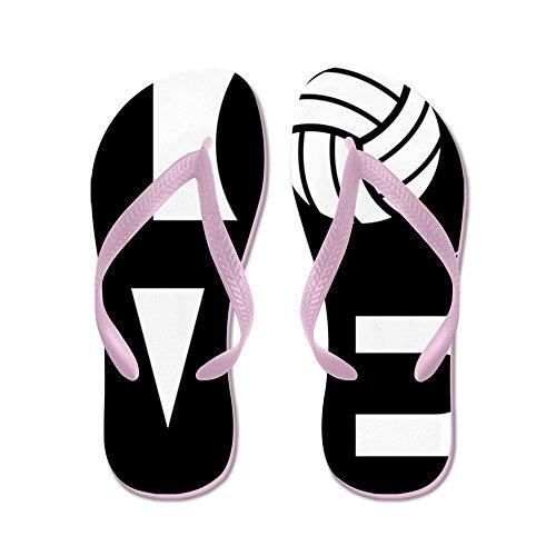 Cafepress Love Volleybal - Flip Flops, Grappige String Sandalen, Strand Sandalen Roze