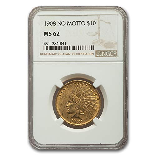 1908 $10 Indian Gold Eagle MS-62 NGC G$10 MS-62 NGC