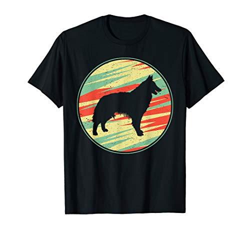 Belgian Tervuren Retro Vintage Silhouette Cute Dog Gift T-Shirt ()
