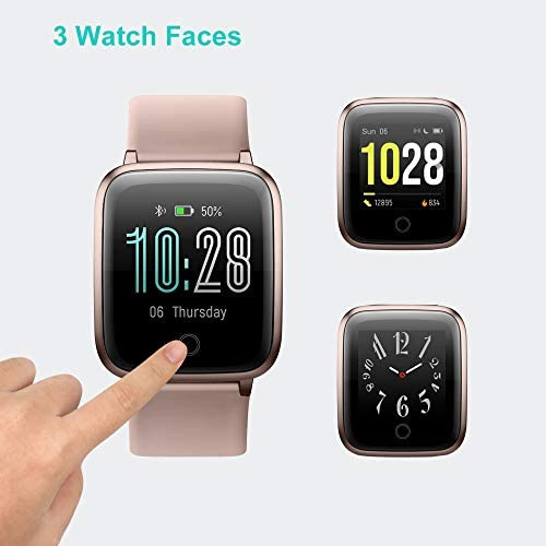 Willful Smart Watch for Men Women 2020 Version IP68 Waterproof, Fitness Tracker Heart Rate Monitor Sport Digital Watch, Smartwatch for Android Phones and iOS Phones Compatible iPhone Samsung (Pink) 41jgiIHvGOL
