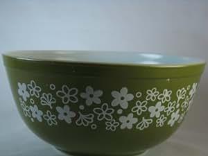 Vintage 1970's Pyrex Spring Blossom Green Mixing Nesting Batter Bowl - 1.5 Qt #402