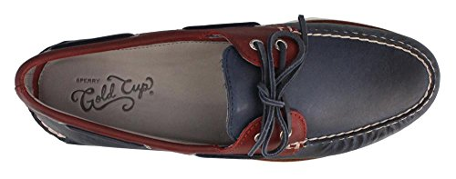 Sperry Top-sider Mens Gold A / O 2-eye Roustabout Scarpe Da Barca Blu / Rosso