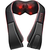 [Free Your Hands] Mpow Massager Neck Back Shoulder Shiatsu Massager with Additional Vibration Mode and Waist Design for Deep Shiatsu Kneading Heat Back Massager for Foot Neck Shoulder Waist Back Arm
