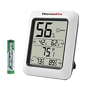 iTronics TP50 Digital Hygrometer Indoor Thermometer Humidity Monitor with Temperature Humidity Gauge