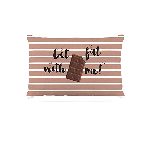 KESS InHouse Kess Original Don't Stop Believin Coral White Dog Bed, 50  x 40