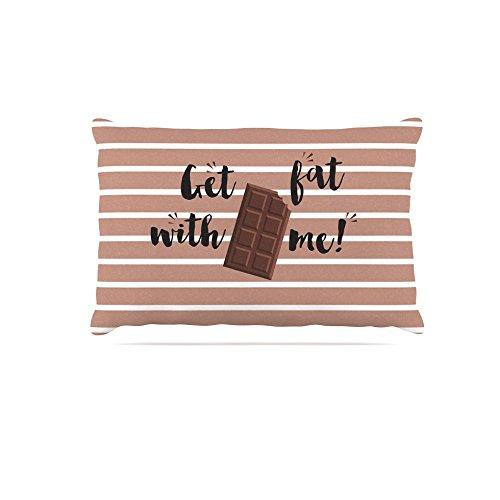 KESS InHouse Kess Original Get Fat Brown Chocolate Dog Bed, 30  x 40