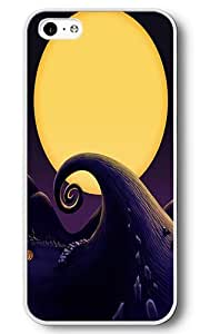 iPhone 5C Case, 5C Cases - Halloween Town Scratch Resistant White PC Bumper Hardshell Snap-on Case for iPhone 5C