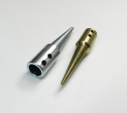 TAPERED SPINDLES SET OF 2 R & L WITH 5/8 ID HOLE for GRINDER & POLISHING MOTOR (E 9)