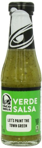 Taco Bell Salsa Bottle, Verde, 7.5 Ounce (Pack of 12).