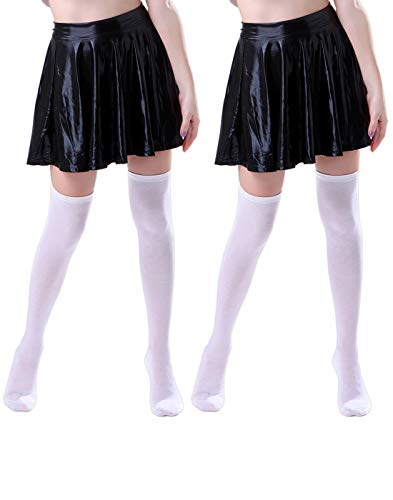 HDE Women's Knee High Stockings Solid Color Opaque Cotton Spandex Fashion Socks]()