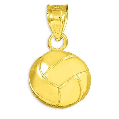 (10k Gold Beach Volleyball Charm Pendant)