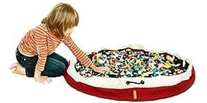 SWOOP Bags Original Toy Storage Bag Organizer + Play Mat, RED