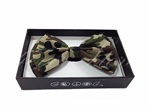 New! Camo Tuxedo Classic BowTie Neckwear Adjustable Bow Tie Camo Bow Tie