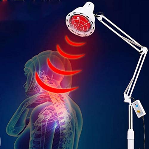 Hyperthermie-Lampe,Elektrisches Backen Lampen,Physiotherapie Einstellung Temperatur Injektion Wasser Base Familie Salon Sch/önheit 2 K/öpfe Licht Therapie Fu/ßboden Lampe