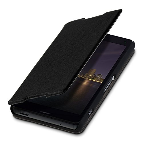 kwmobile Practical and chic FLIP COVER protective shell for Sony Xperia Z3 Compact in black