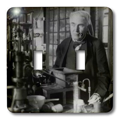 3dRose lsp_27560_2 Thomas Edison in His Lab Toggle Switch Multi-Color
