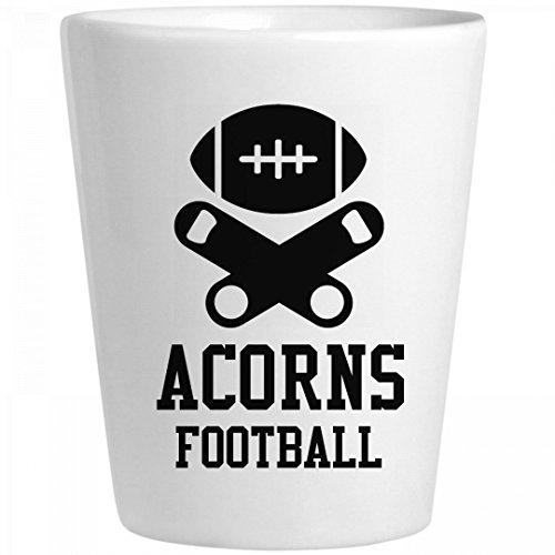 Acorns Football Fan: Ceramic Shot Glass