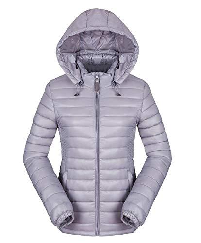 TTYLLMAO Coat Sleeve Hoodie Gery Womens Long Lightweight Down Jacket rSq0rTBRx