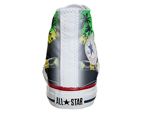 Converse All Star Customized - Zapatos Personalizados (Producto Artesano) con Colores y Temas Jamaika