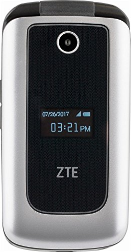 ZTE Cymbal 4G LTE speed Verizon Prepaid Cell Phone - Silver