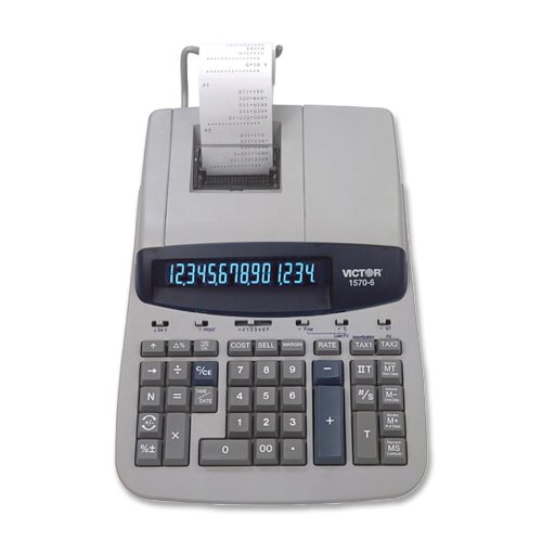 Black//Red Print 5.2 Lines//Sec Victor 15706 1570-6 Two-Color Ribbon Printing Calculator