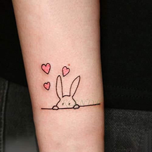 ljmljm 5pcs Impermeable Etiqueta engomada del Tatuaje Elegante ...