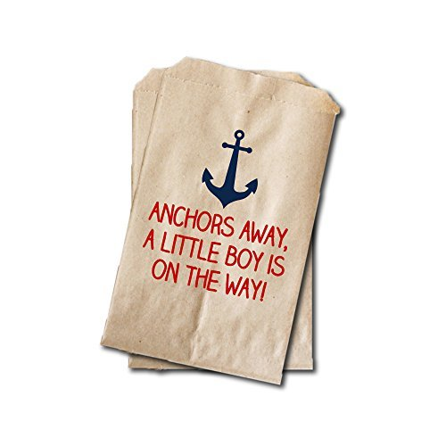 Nautical Candy Bags - Boys Baby Shower Favor Bags - 6.25