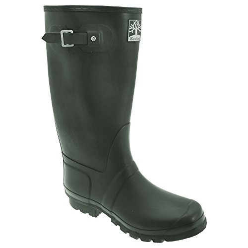 Woodland Unisex Quality Strap Wide Fit Wellington Boots (8 US) - Fit Wellington U