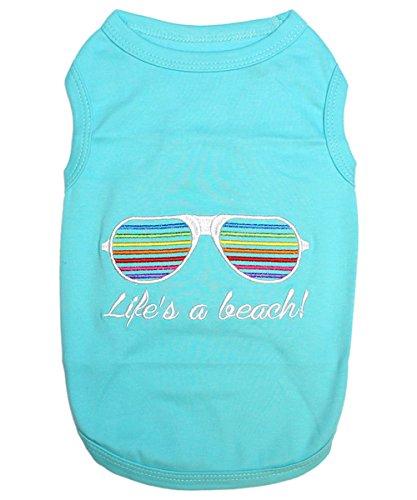Parisian Pet Life's a Beach! T-Shirt, Large