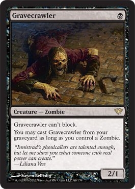 Magic: the Gathering - Gravecrawler (68) - Dark Ascension from Magic: the Gathering