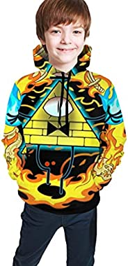 Boys and Girls Gravity Falls Hoodie College Sports Style