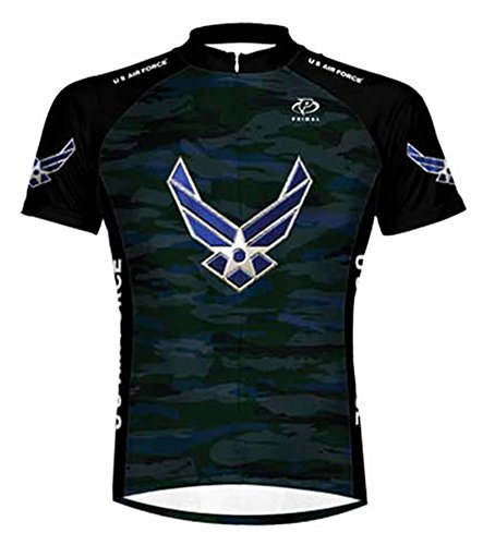 (Primal Wear U.S. Air Force Engage USAF Cycling Jersey Men's 5XL Short Sleeve)