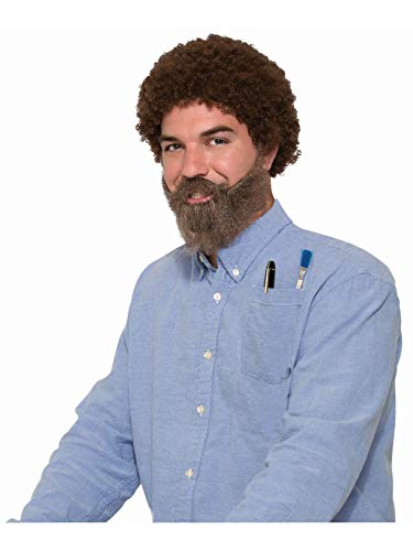 Forum Novelties Men's Wig-80's Man Wig, Beard and Mous, Brown, Standard -