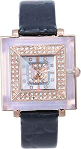 Charisma Women's Rose Gold Dial Leather Band Watch [C4415]