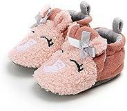 YWY Infant Baby Cozy Fleece Slippers with Non Skid Bottom Newborn Boys Girls Winter Warm Socks Booties Stay On