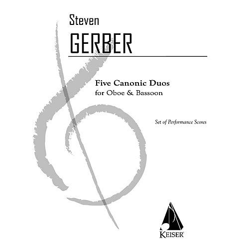 5 Canonic Duos for Oboe and Bassoon LKM Music Series Composed by Steven Gerber Pack of 2