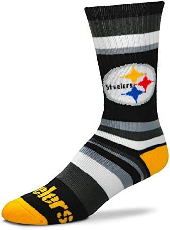 For Bare Feet Pittsburgh Steelers Big Top MisMatch Crew Socks Size Large 10-13