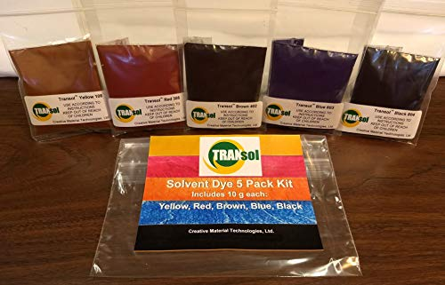 Wood Dye - Powdered Solvent 5 Color Kit - Wood Stain Kit (50 Grams)